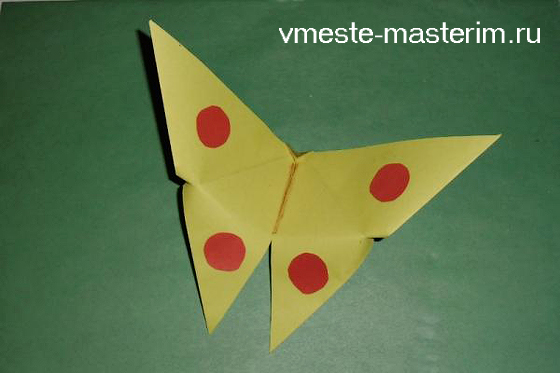 как сделать бабочку из бумаги