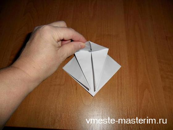 как сделать журавлика из бумаги