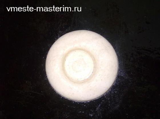 подсвечник из соленого теста