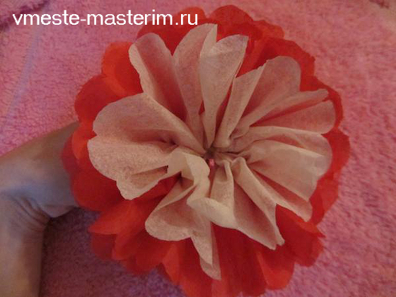 Видео уроки цветы из салфеток своими руками 3