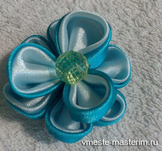 канзаши объемный цветок