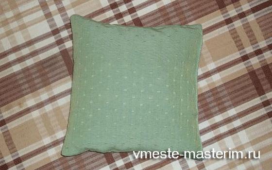 сшить декоративную подушку своими руками