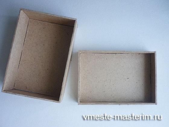 как сделать шкатулку из картона