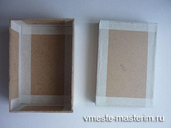 сделать шкатулку из коробки