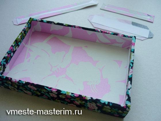 как сделать шкатулку из коробки обуви