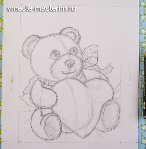 Как нарисовать открытки одним карандашом для детей