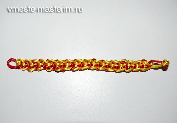 браслет из шнуров