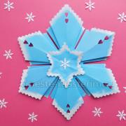 ажурная снежинка из бумаги своими руками