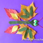 Детская аппликация из листьев «Бабочка» своими руками