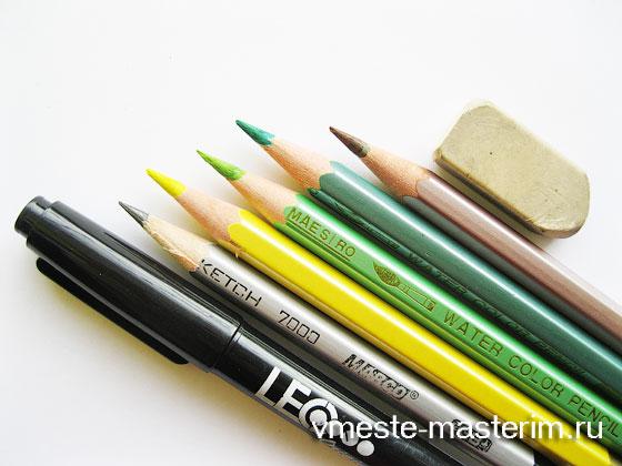 Как нарисовать огурец карандашом поэтапно