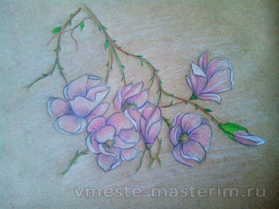 Как легко нарисовать красивый букет цветов поэтапно карандашом