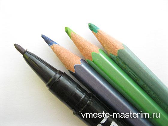 Как нарисовать цветы васильки карандашом поэтапно