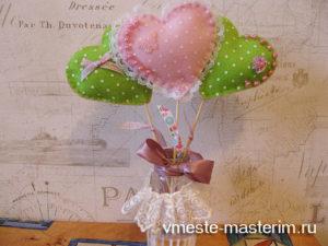 Как сделать букет сердечек из фетра (мастер-класс)