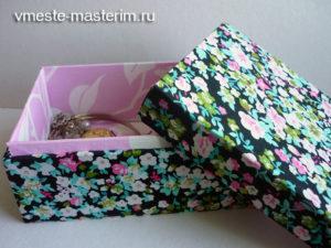 Как сделать шкатулку своими руками из картона для украшений