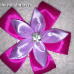 Как сделать цветок из атласных лент (мастер-класс)