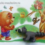 Как слепить енота из пластилина (мастер-класс)