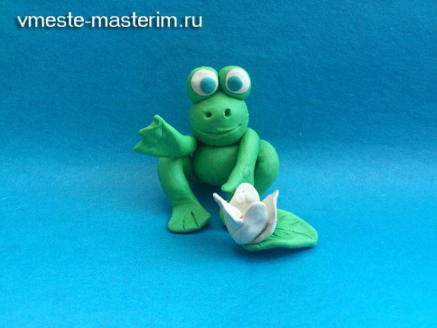 Как слепить лягушку из пластилина (мастер-класс)