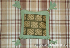 Как сшить красивую диванную декоративную подушку своими руками