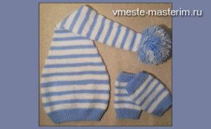 Как связать спицами шапочку и гетры для новорожденного (мастер-класс)