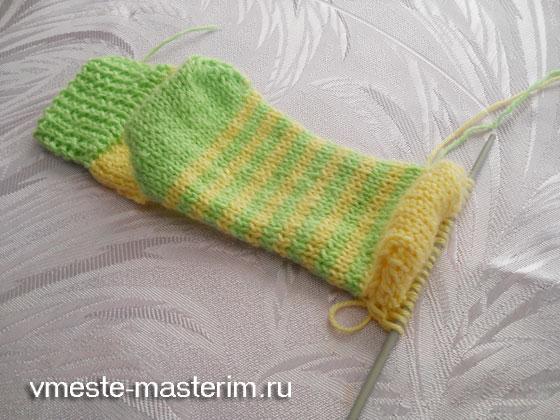 самые простые способы связать носки спицами