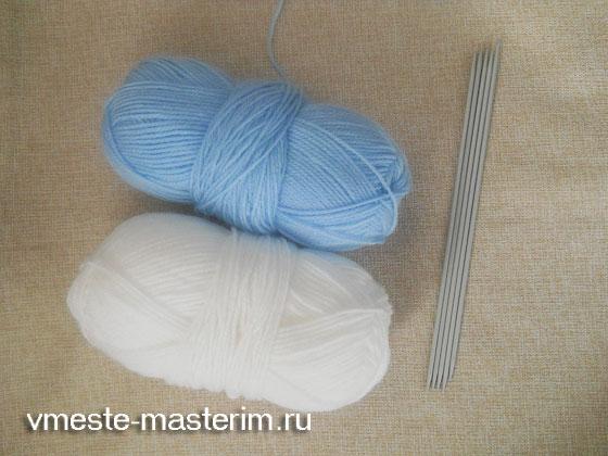 Как связать шапочку и гетры спицами для начинающих (мастер-класс)