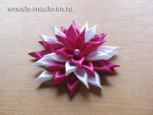 Красивый цветок для украшения волос своими руками