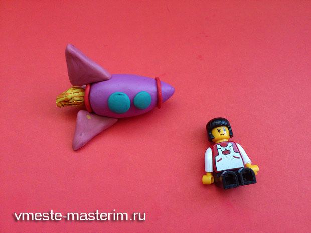 Лепим ракету из пластилина (мастер-класс)