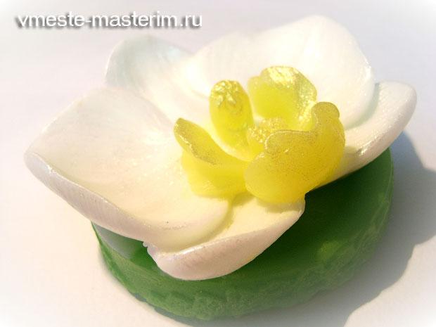 Мыло ручной работы «Орхидея» фото