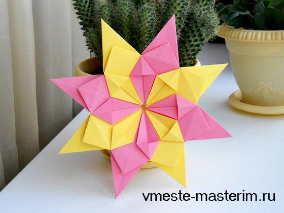 Объемная звезда из бумаги своими руками (мастер-класс)