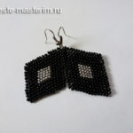 Серьги из бисера ромбики: схема плетения (мастер-класс)
