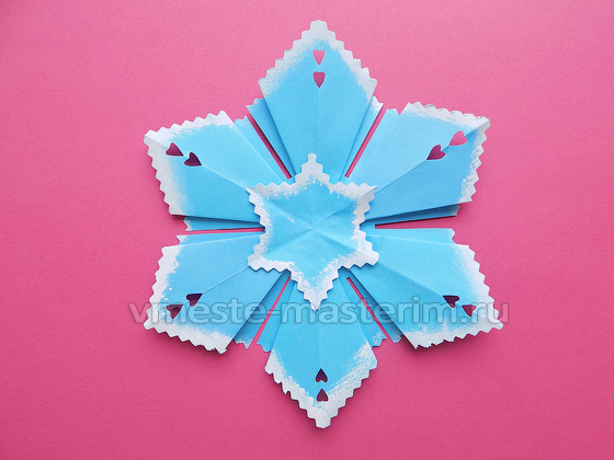 Снежинка из бумаги своими руками (мастер-класс)