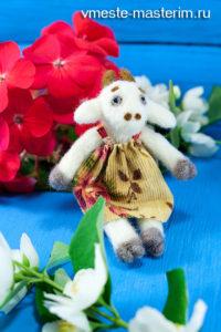 Сухое валяние из шерсти (мастер-класс): коза