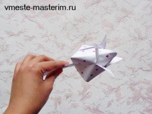 Тюльпан из бумаги своими руками (мастер-класс)