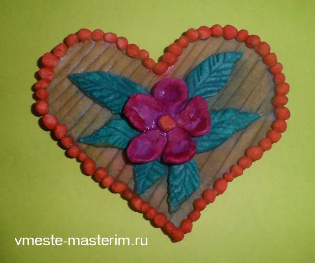 Валентинки из соленого теста своими руками (мастер-класс)