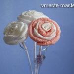 Как сделать розу из бумажных салфеток: пошаговое фото